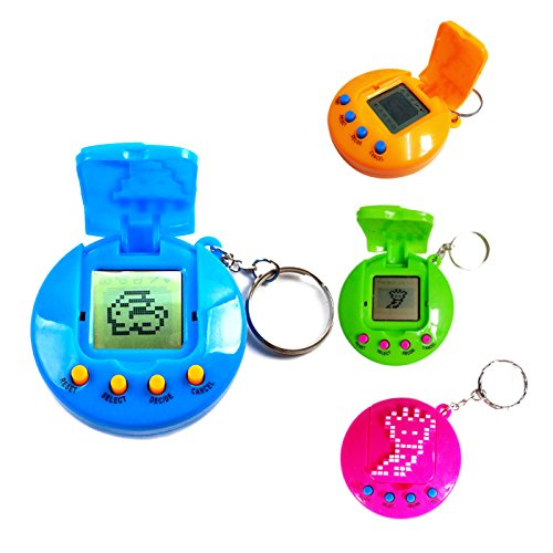 Kasst Electronic Virtual Pets Toy On A Key Chain With One Ag13 Battery Electronic Game  Red