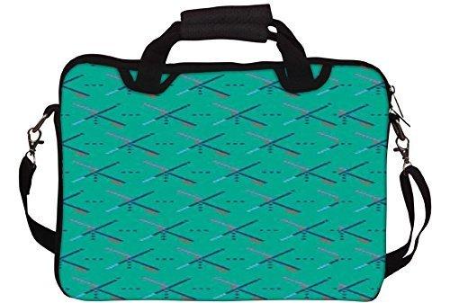 Snoogg Bläulich Pattern 2758 Gedruckt Notebook-Tasche mit Schultergurt 15 bis 15,6 Zoll