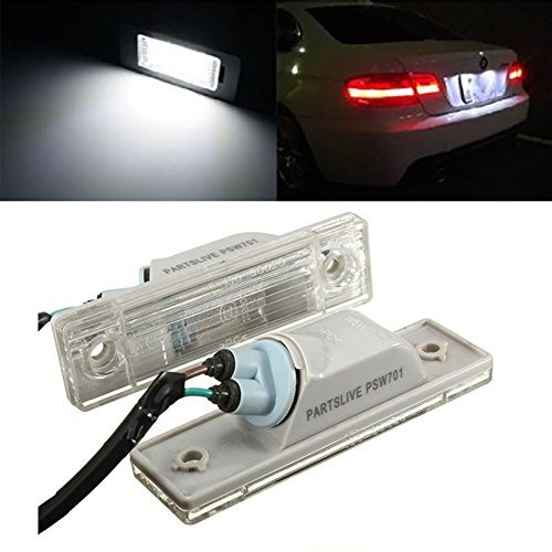 TUINCYN License Plate LED Light White Universally Used for Cruze Car Rear License Plate Lamp Trunk Switch Button Assembly Driving Lamp (Pack of 2)