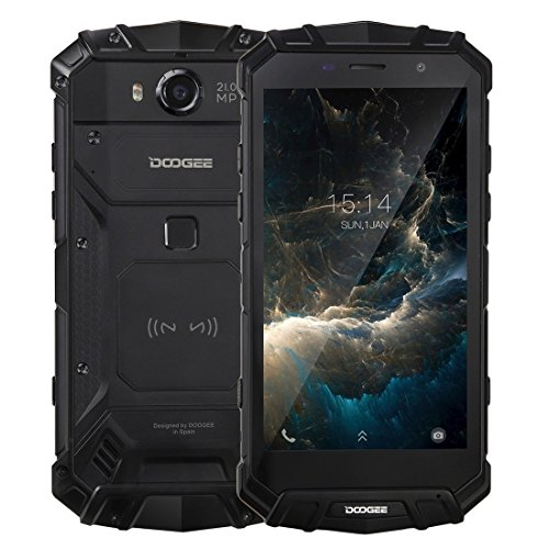 Rugged Smartphone Unlocked, DOOGEE S60 Outdoor Phones - Android 7.0-5.2'' FHD Screen - IP68 Waterproof Dustproof Shockproof - Helio P25 Octa-core - 5580mAh - 6GB RAM + 64GB ROM - - Smartphone S60