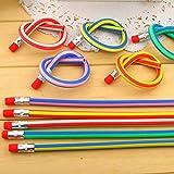 AHG Lot de crayons de couleurs flexibles Matériel scolaire amusant Idéal pour les enfants