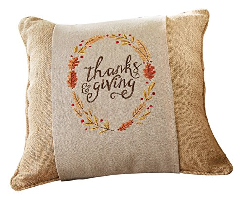 Mud Pie Fall Harvest Decor Thanks Giving Pillow Wrap