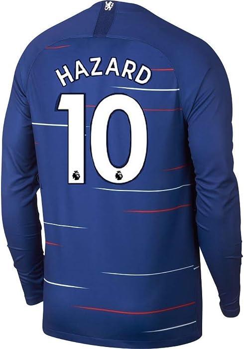 new concept 08d06 93633 #10 Hazard Chelsea Home Mens Soccer Jersey 2018-2019 Season Blue (M)