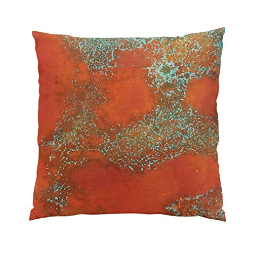 - Suklly Modern Copper and Green Textured Look Hidden Zipper Home Sofa Decorative Throw Pillow Cover Cushion Case Square 20x20 Inch Two Sides Design Printed Pillowcase