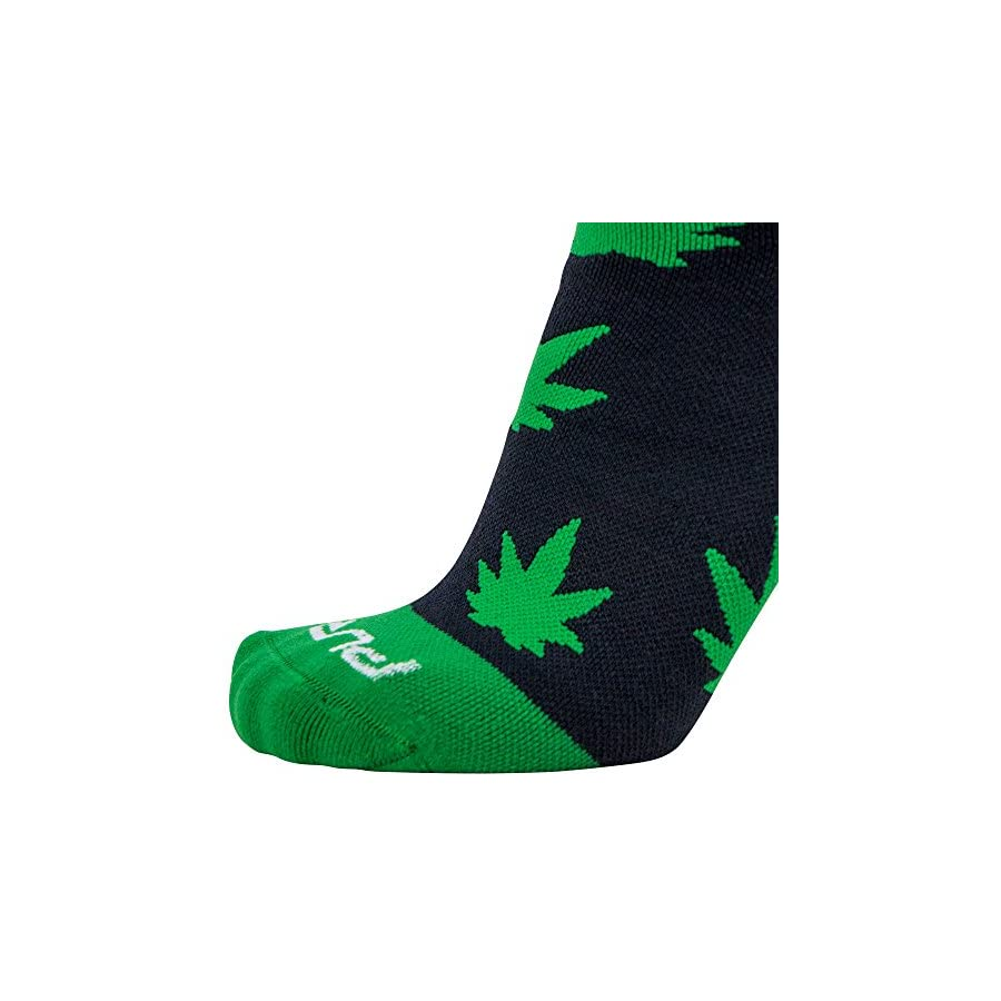 Pure Compression Nature Snowboard Socks – Warm Midweight Snowboarding Socks Men Women Great Cold Weather Skiing, Pot Leaves