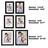 """WOLTU 10 Piece Multi Pack Black Picture Frame Set for Wall with Plexiglass Cover,2-8x10"""",4-5x7"""",4-4x6"""",PF02C10-x"""