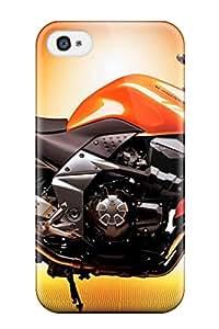 Hot FawLzna0TEyYy Amazing Orange Kawasaki Motorcycle Tpu Case Cover Compatible With Iphone 4/4s