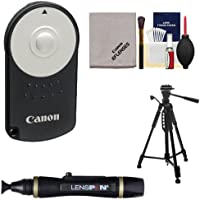 Canon RC-6 Wireless Remote Shutter Release Controller + Tripod + Kit for Rebel SL1, T5i, T6i, T6s, T7i, EOS 70D, 77D, 80D, 6D, 7D, 5D Mark III, IV