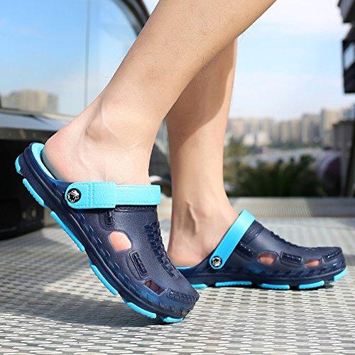 sandali 44 trascinato blu da giocare semi scarpe Baotou acqua A traspirante Il uomini fankou estivi da pantofole scuro viaggio spiaggia scarpe foro spiaggia scarpe in xgIp1qO
