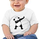 Kkidj Ooii Birthday Day Baby Girl's Kids Funny Dabbing Hip-Hop Panda Short Sleeves T-Shirt