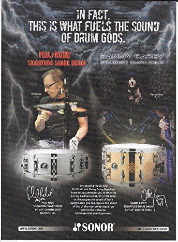 Sonor Drums - Phil Rudd of AC/DC/Danny Carey of Tool- 2010 Print Advertisement (Snare Danny Carey)