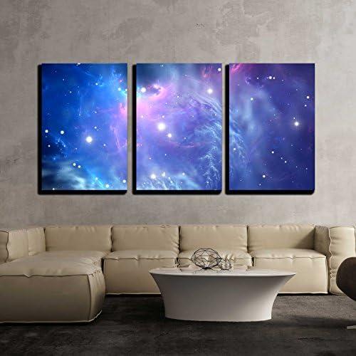 Blue Space Nebula x3 Panels