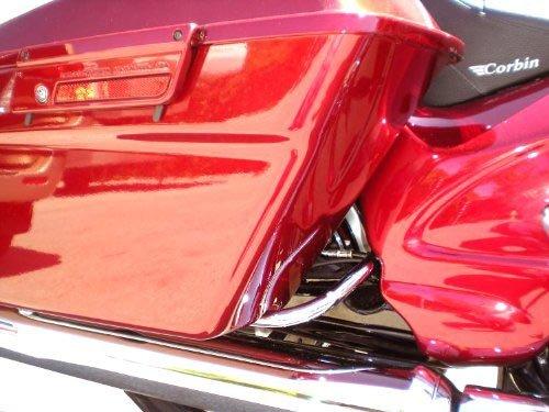Baggerwerx 491050 Chrome Saddlebag Support Bracket Short for 1993-2013 Harley Davidson Touring Model