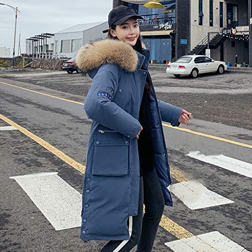 Cappotto di Moda Invernale Caldo Trench Solido Casual da