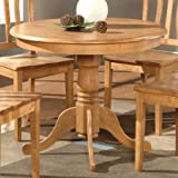 Wooden Imports AD01-T-OAK Antique Table 36 in. Round - Oak