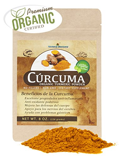 Curcuma Longa Certified Organic Powder from India- 100% Pure Organic – 8 Oz Resealable Pouch For Sale
