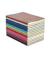 XYTMY Nuestro libro de aventuras-A5 Cuero de la PU Cuaderno de escritura colorido Cuaderno diario Diario Cuaderno diario Lindo Diario de viaje (Juego de 4, colores fijos)