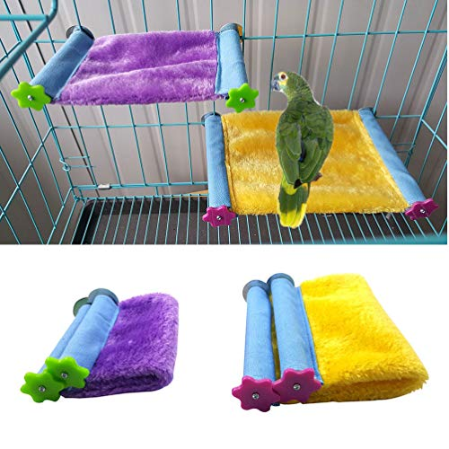 Winter Warm Bird Nest House Bed Hammock Toy for Pet Parrot Parakeet Cockatiel Conure Cockatoo African Grey Eclectus Amazon Lovebird Budgie Finch Canary Hamster Rat Chinchilla Squirrel Cage Perch (Bird Nest Bed)