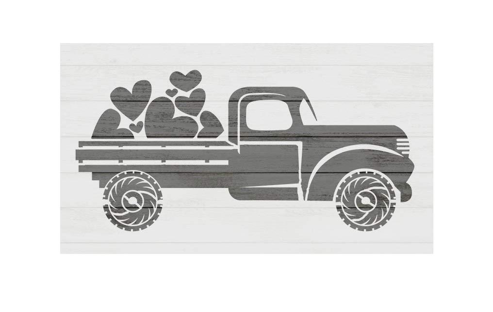 Valentines Truck Stencil Valentines Stencil 8x11 Sheet