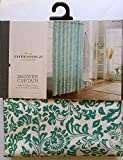 Threshold Curtains Threshold - Green Botanical Floral - Shower Curtain