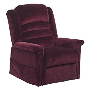 Catnapper Soother Power Lift Full Lay-out Oversized Chaise Recliner Chair - Galaxy