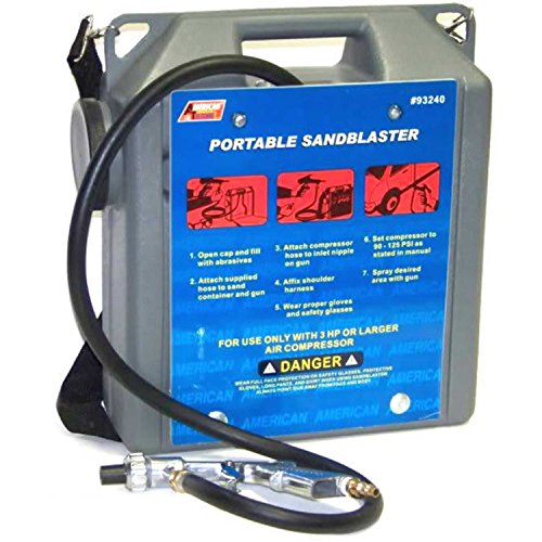 Tool Sandblaster Air (30 Lb Portable Air Sandblaster Air Tools Sand Blaster With Hose And Gun 5ft Hose)
