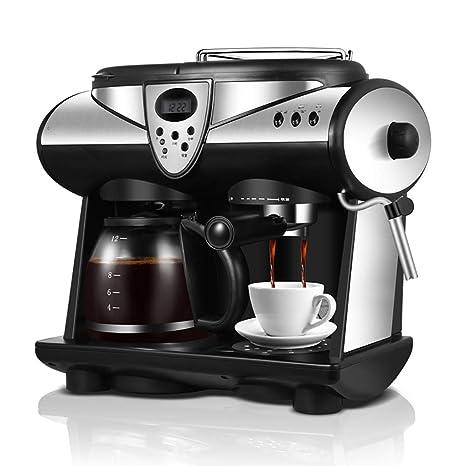 ZGZXD Máquina de café expreso Americana/Italiana 2 sabores,Doble Bombas y calderas Cafetera