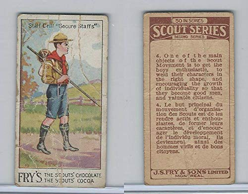 V40 J.S. Fry, Scout Series, 2nd Series, 1912, 4 Staff Drill