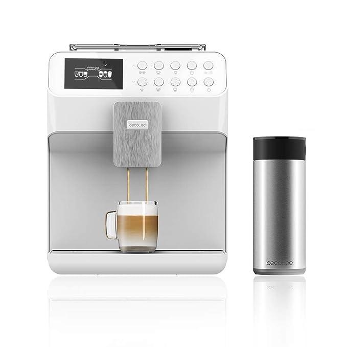 Cecotec Cafetera Megautomática Power Matic-ccino 7000 Touch Serie Bianca. Tecnología ForceAroma de 19 bares de presión, Mandos Digitales, 6 Modos ...