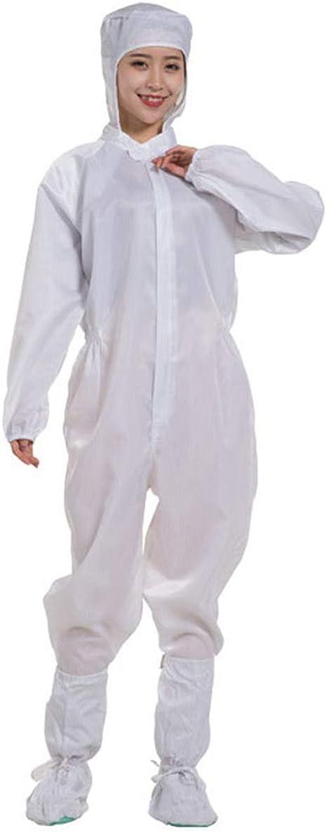 mama stadt Tuta Protettiva Riutilizzabile con Cappuccio+Copriscarpe Indumenti Protettivi Antistatico Antipolvere Respirabile Unisex