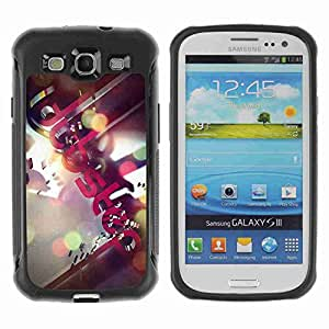 A-type Arte & diseño Anti-Slip Shockproof TPU Fundas Cover Cubre Case para Samsung Galaxy S3 III / i9300 / i717 ( Dubstep Music )