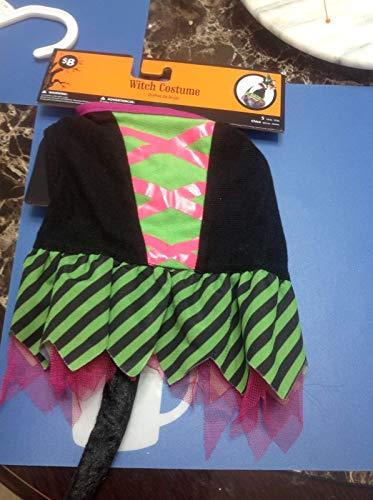 Walmart Pet Witch Costume Hat (S) Black & Green