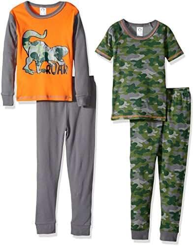 Gerber Baby Boys' 4 Piece Cotton Pajama Set