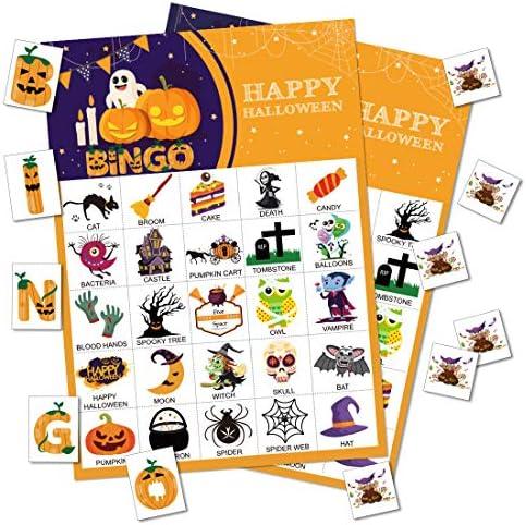[해외]Max Fun Halloween Bingo Game for Kids Halloween Party Games Classroom Activities 24 Players / Max Fun Halloween Bingo Game for Kids Halloween Party Games Classroom Activities 24 Players