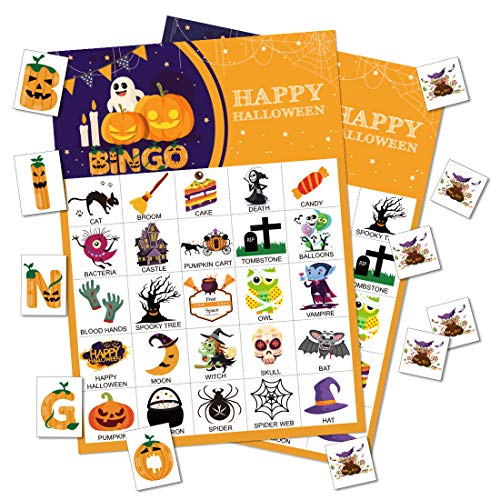 Max Fun Halloween Bingo Game for Kids Halloween Party Games Classroom Activities 24 Players