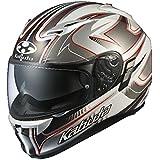 オージーケーカブト(OGK KABUTO)バイクヘルメット フルフェイス KAMUI2 SIPRO(シプロ) ホワイトシルバー (サイズ:XL) 577605
