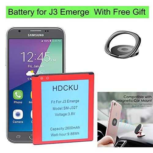 J3 Emerge Battery Replacement for Samsung Galaxy J3 Emerge J327 SM-J327P  Battery Sprint/Virgin Mobile/Boost Mobile (12 Month Warranty)