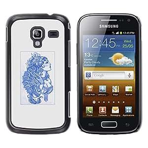iKiki Tech / Estuche rígido - Azul Burlesque Señora - Samsung Galaxy Ace 2