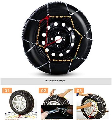 タイヤチェーン タイヤチェーン 高性能金属製ジャッキアップ不要取付簡単 コンパクト収納スピーディア (Size : 195/55-13)