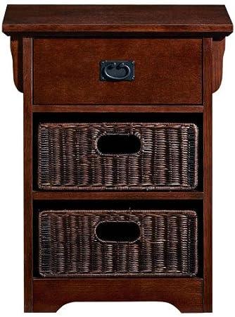 Craftsman End Table Wicker Baskets Macintosh Oak