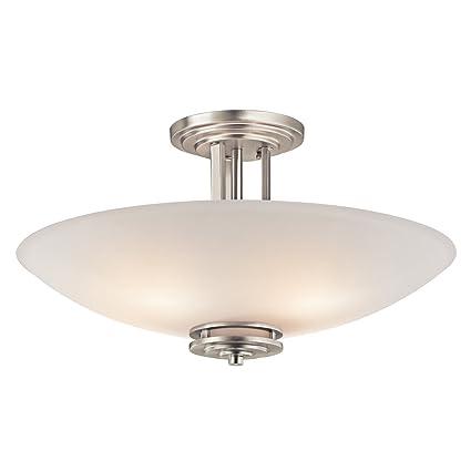 contemporary 2 helius lighting. Kichler 3677NI Four Light Semi Flush Mount Contemporary 2 Helius Lighting