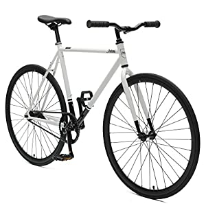 Critical Cycles Harper Coaster Fixie Style Single Speed Commuter Bike with Foot Brake, White & Black, 49cm s