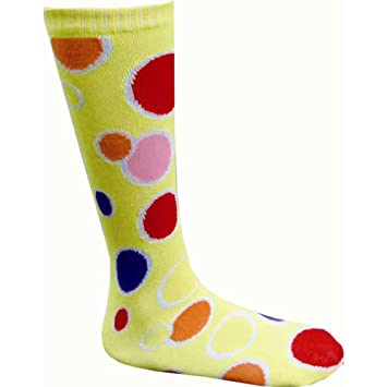 Dress up America Calcetines hasta la rodilla niños círculo amarillo: Amazon.es: Juguetes y juegos