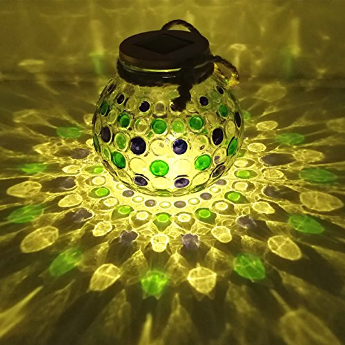Solar Jar Lights Outdoor Home Decor Mason Jars Lids Deal of The Day Prime Today Garden Decorations Light,Hanging BlueGreen Ornaments Lantern Sogrand Warm White LED Decorative Lamp for Bar Party Patio (Today Patio)
