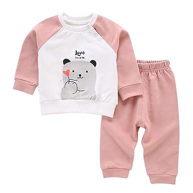 VICGREY Chándal infantil con oso, completo para niños y niñas, 2 ...