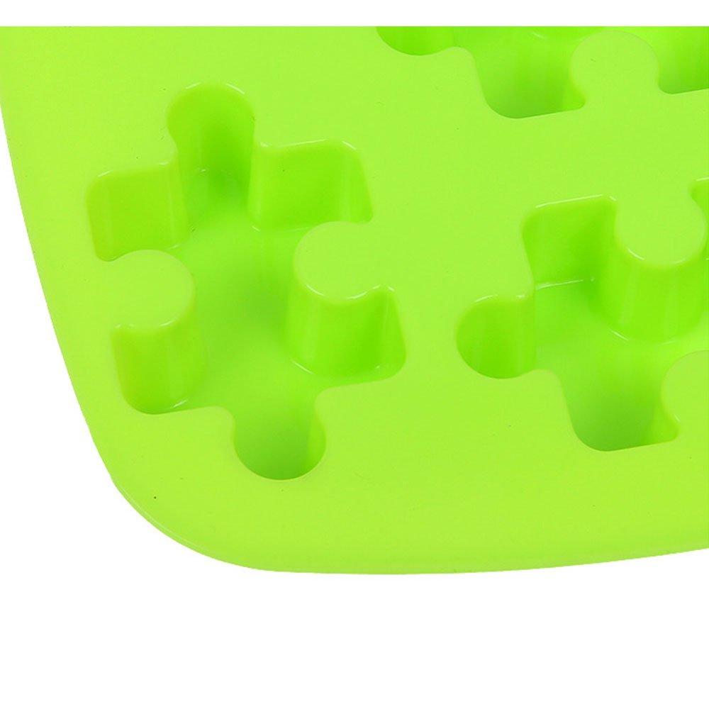 ZWANDP 7 Trous g/âteau au Chocolat de gel/ée de Moule de Savon de Silicone Moule Biscuit Puzzle d/écor/é Outils de Cuisson Bricolage Outils 3D