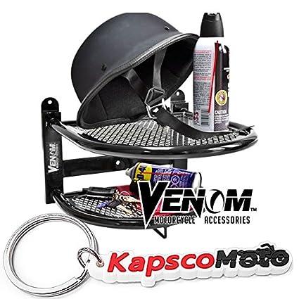 Venom montado en la pared casco de moto guantes y chaqueta ...