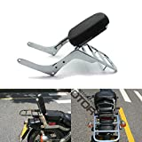 Motorcycle Backrest Sissy Bar Luggage Rack Pad for Honda Rebel 250 CMX 250 CA250 All Year Chrome