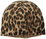Sofia Cashmere Women's Animal Print Hat, Camel Leopard, One Size