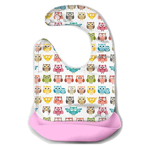 g Bibs Easily Wipes Clean Waterproof Baby Mouth Towel Baby Bibs for Girls Boys Stain Odor Resistant Baby Feeding Accessorry - Cute Owl Funny Owl Pattern ()